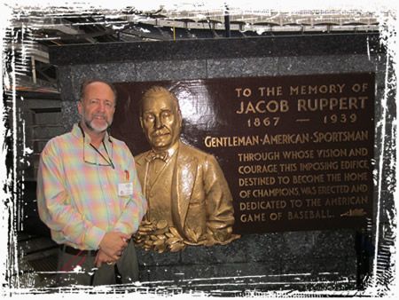 Steve at the Jacob Ruppert Memorial